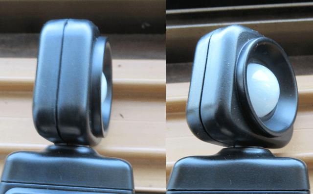 投光器の首振りヘッド