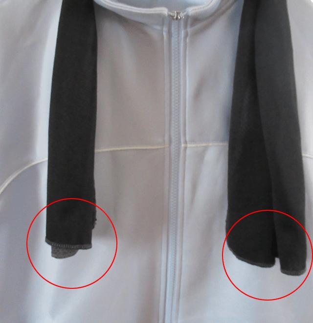 ひんやりタオルの使用例
