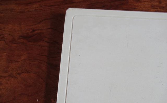 珪藻土バスマットの端