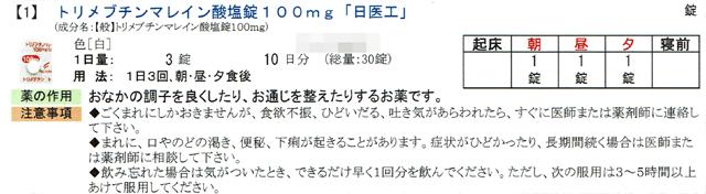 トリメブチンマレイン酸塩錠100mg「日医工」の説明