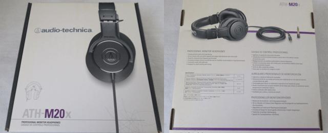 オーディオテクニカ ATH-M20X 密閉型ヘッドホンの箱