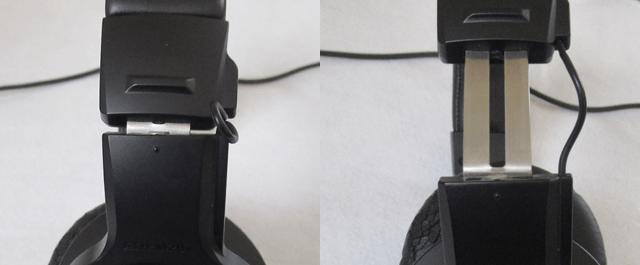 オーディオテクニカ ATH-M20X 密閉型ヘッドホンのスライダー