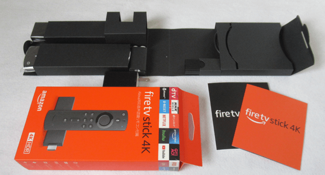 Fire TV Stick 4K Alexa対応音声認識リモコン付属の箱