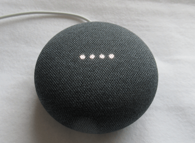 Google Home Mini の点灯