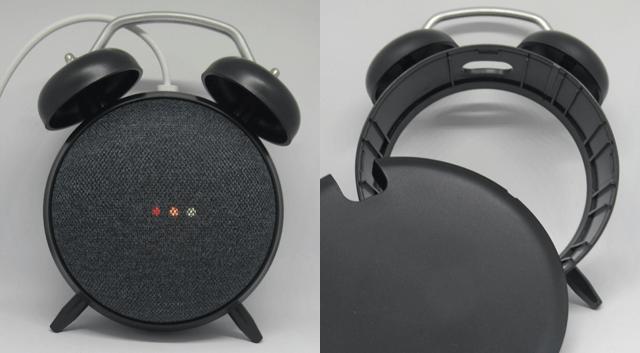 エレコム Google Home Mini用クロックスタンド ClockStand ケース ブラック AIS-GHMCLBK