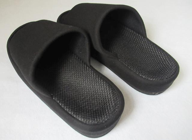 オクムラ スリッパ ブラック Lサイズ with 指枕コンフォート