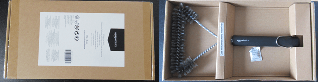 Amazonベーシック バーベキューブラシ 3面グリル用ブラシ