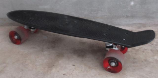 使用後のスケートボード