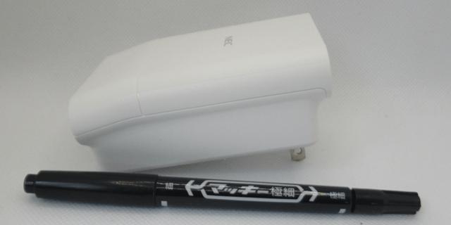 NEC 無線LAN中継機 PA-W1200EX とペンの比較