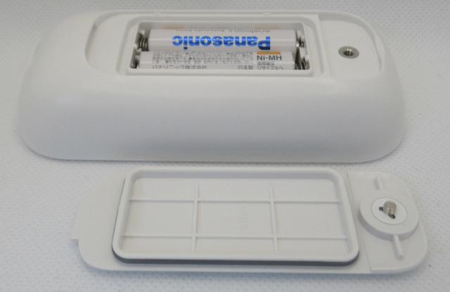 低周波治療器 HV-F021 の電池スペース